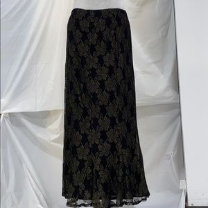 Chico's bronzed lace maxi skirt Chico's size 1